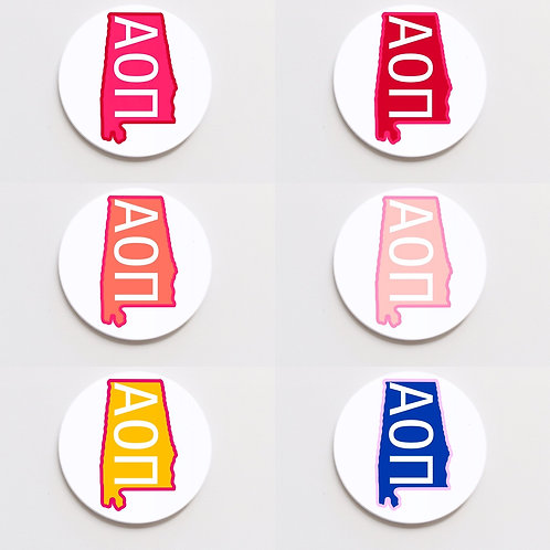 alpha omicron pi state button