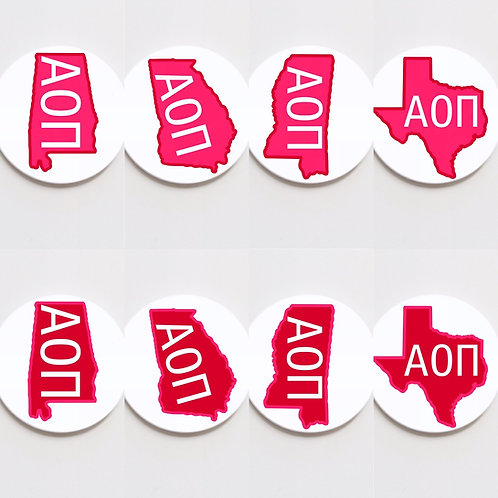 alpha omicron pi state button