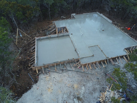 Two new foundation pours in Canyon Lake Texas