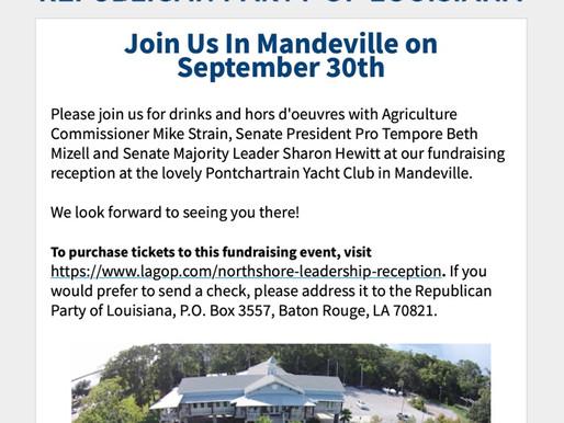 Join Us In Mandeville on September 30th