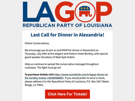 Last Call for Dinner in Alexandria!
