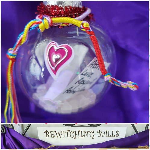 BEWITCHING BALL: Attract Love, Respect and Admiration.