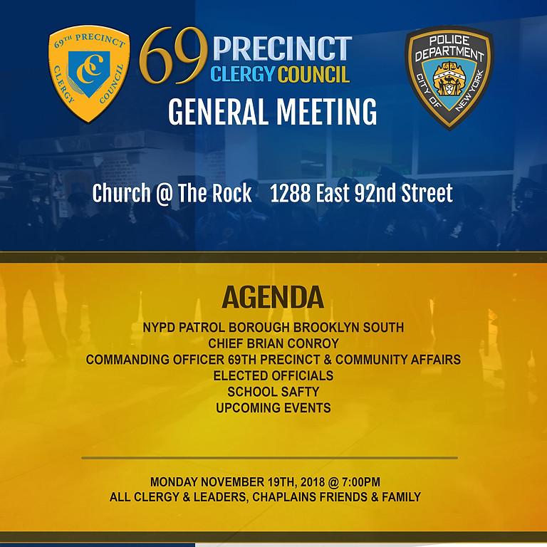 69TH PRECINCT CLERGY COUNCY GENERAL MEETING - NOVEMBER