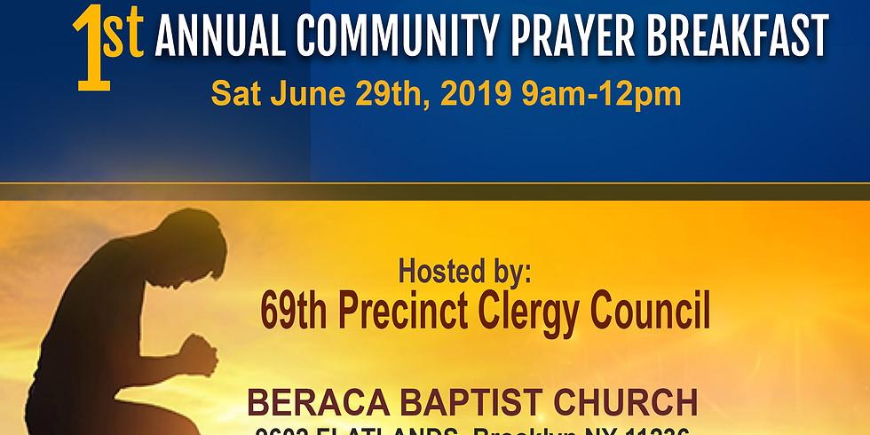 Annual Community Prayer  Breakfast