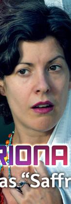 Catriona Knox plays Saffron, Molly's mum