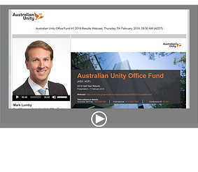 Australian Unity Office Fund H1 2019 Results Webcast