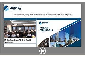 Cromwell Property Group 2018 AGM