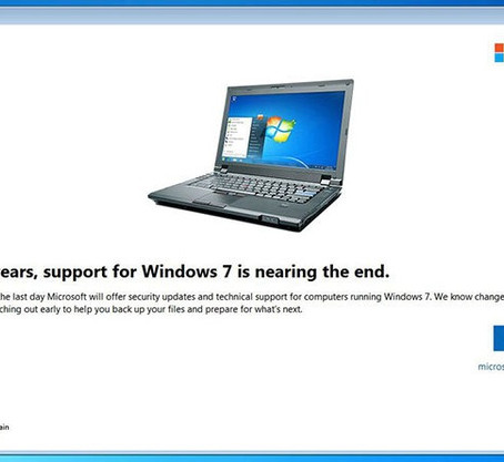 Ondersteuning voor Windows 7 beëindigd op 14 januari 2020