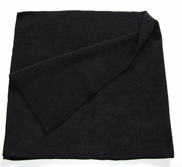 Large microfibre cleaning cloth black 40 x 85 cm