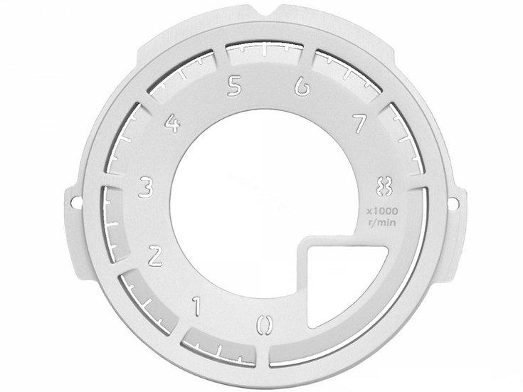 MX-5 Tachometer Dial Face Silver