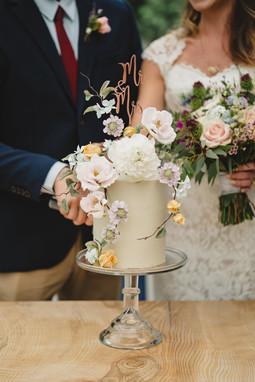 Wedding Cake and Bouquet at Runaway Irish Weddings