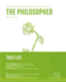 The Philosopher (Autumn 2019) cover outs