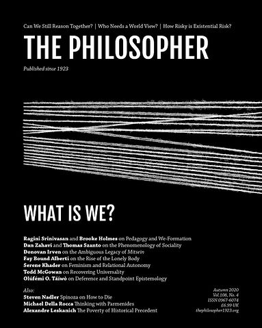 The Philosopher (Autumn 2020) cover outs