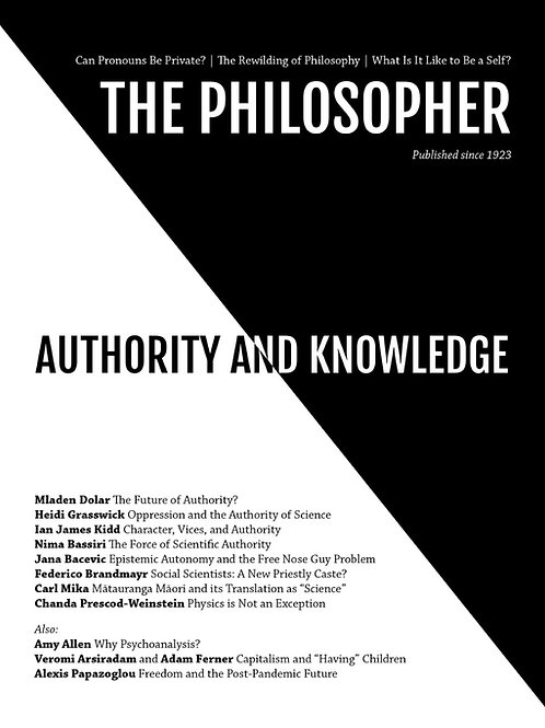 Spring 2021: Authority and Knowledge