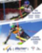 Affiche FIS + Coupe d'Europe Ski 230 x 2