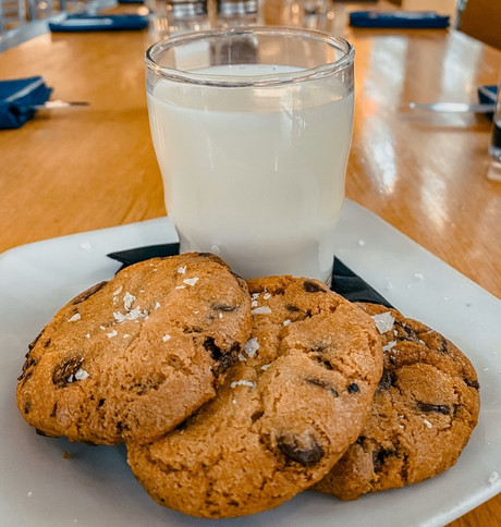 Fresh-Baked Chocolate Chip Cookies and Milk