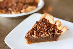 Hickory Nut  Bourbon-Caramel Pie