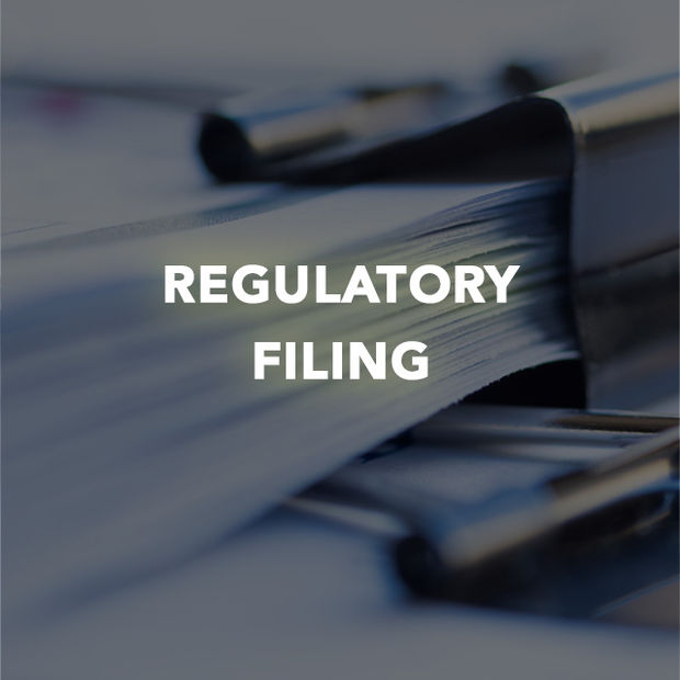 REGULATORY FILING