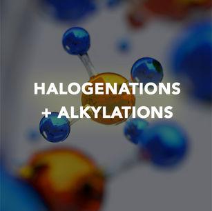 HALOGENATIONS + ALKYLATIONS