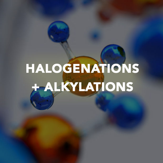 HALOGENATIONS + ALKYLATIONS