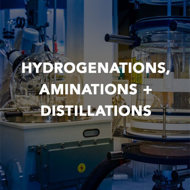 HYDROGENATIONS AMINATIONS + DISTILLATIONS