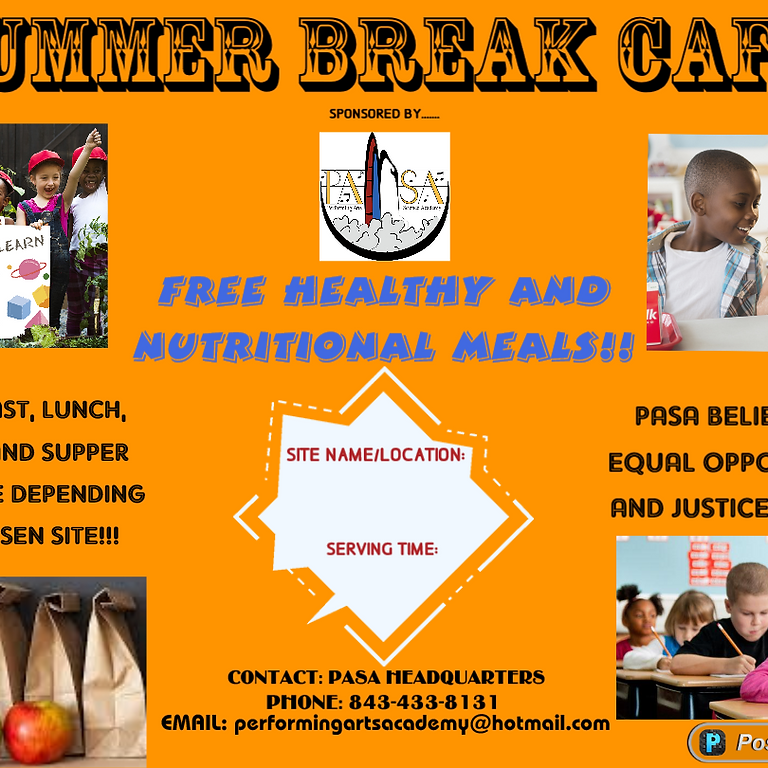 Summer Break Cafe and Child Adult Care Food Program