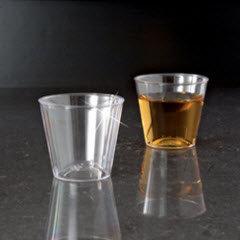 1oz Hard Plastic Shot Glass 2500/case