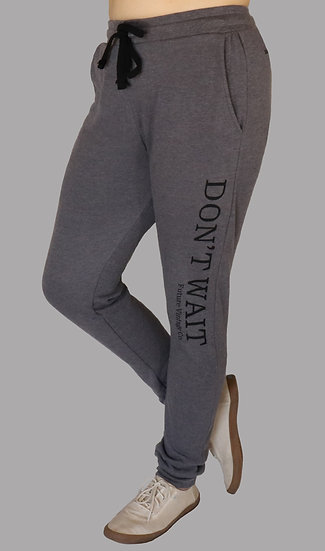 "Recycled Plastic ""Don't Wait"" Sweats"