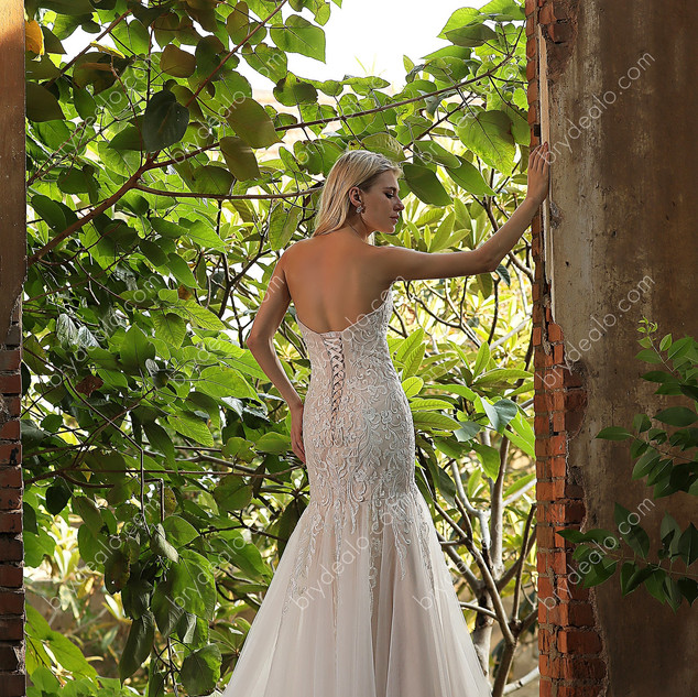 Strapless-Sweetheart-Lace-Tulle-Mermaid-