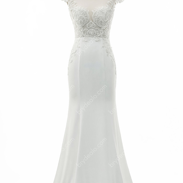 Cap-Sleeve-Satin-Mermaid-Wedding-Gown-6.