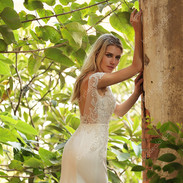 Beaded-Cap-Sleeve-Satin-Mermaid-Wedding-
