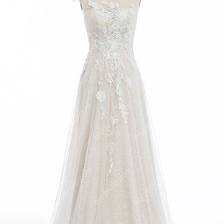 Illusion-Cap-Sleeve-Sequin-Lace-Tulle-A-