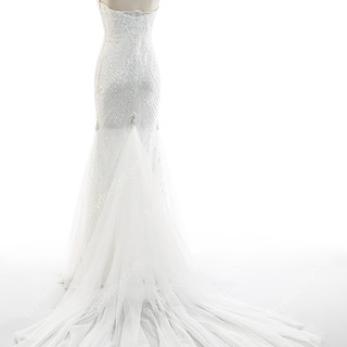 Strapless-Beaded-Lace-Mermaid-Wedding-Dr