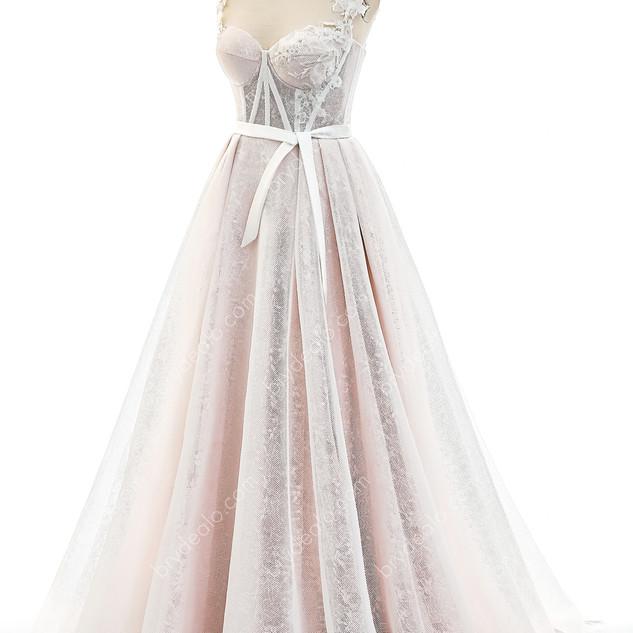 -Pinkish-Corset-A-line-Bridal-G