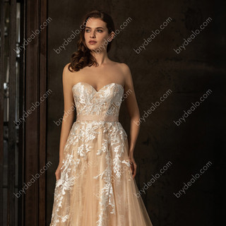 Colored-Strapless-Sweetheart-Neck-Chapel