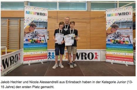 Solothurner Schüler holen sich einen 1. und einen 3. Platz