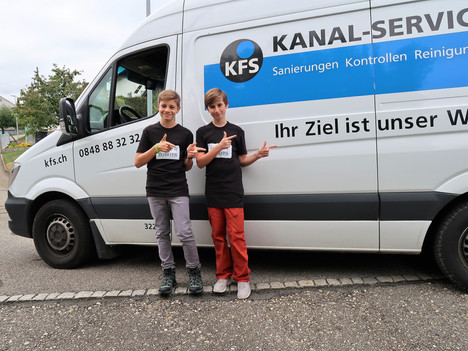League of Robots vor Ort bei  KFS Kanal-Service