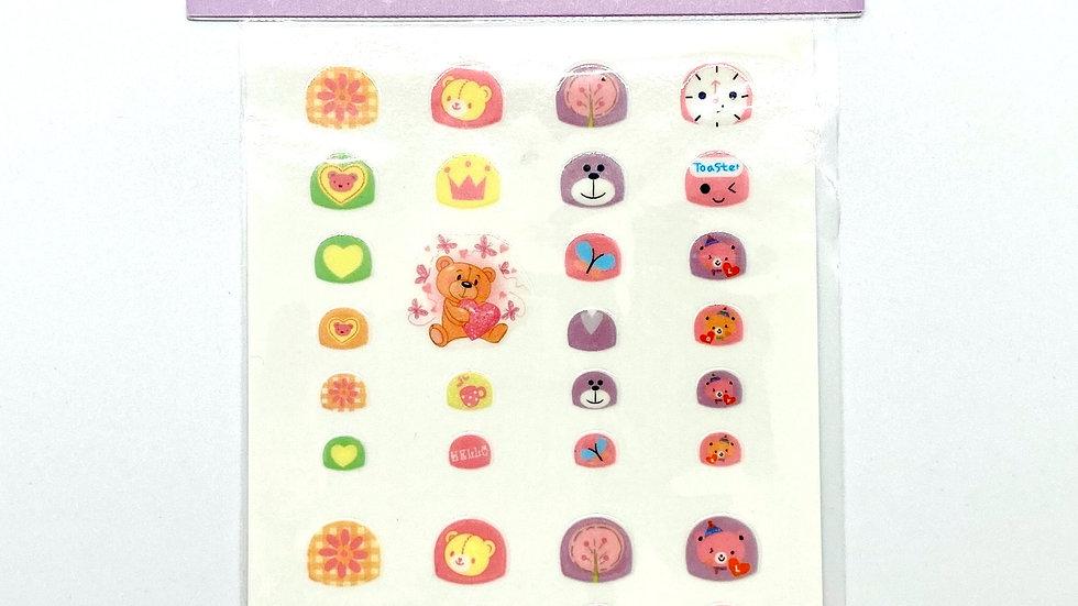 Teddy Bear Nail Art Stickers