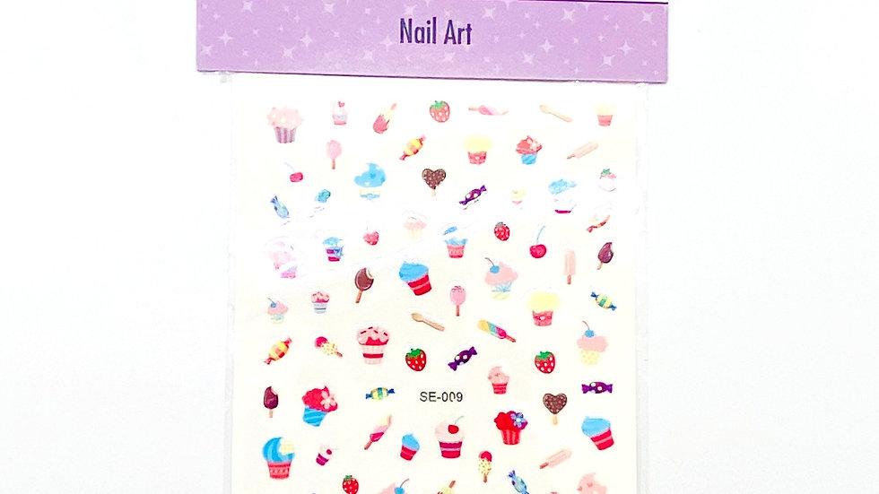 Cupcake Nail Stickers