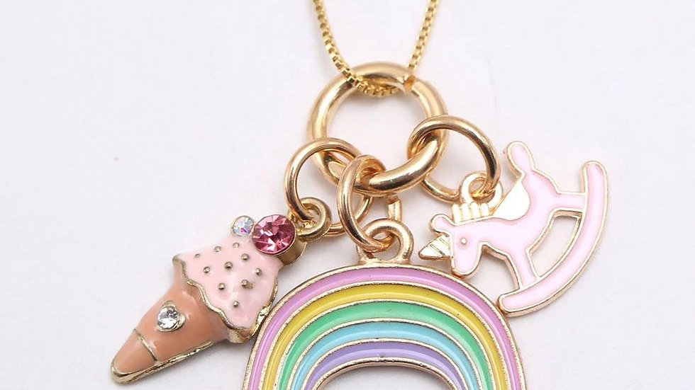 Rainbow Ice Cream Necklace