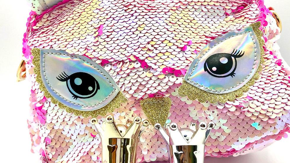Unicorn Pink/White Sequin Crossbody Bag Set