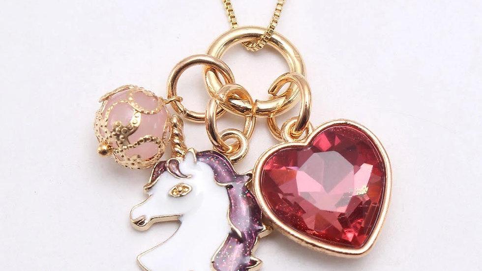 Unicorn Heart Necklace