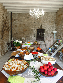 buffet in the old barn