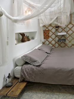 Yurt, handmade bed