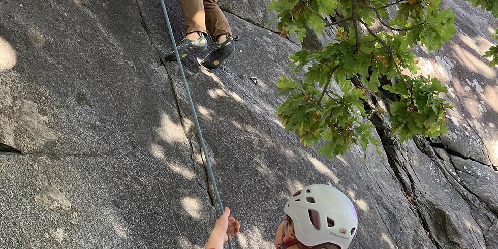 Prova på-klättring ute