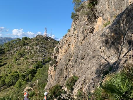 Klättring på Mallorca 2020 och 2021