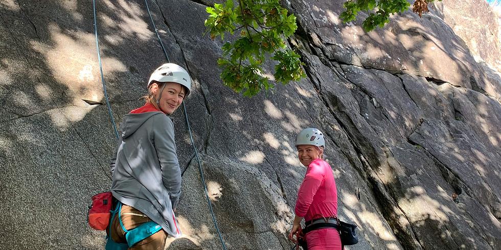 Prova på klättring ute