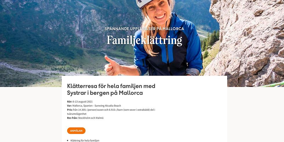 Familjeklättring Mallorca