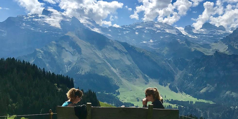 Vandring i Engelberg, Schweiz