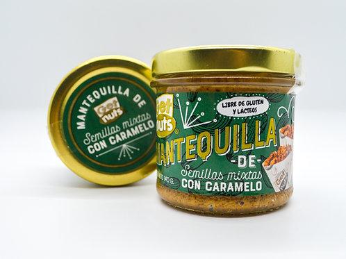 Mantequilla de Semillas Mixtas con Caramelo